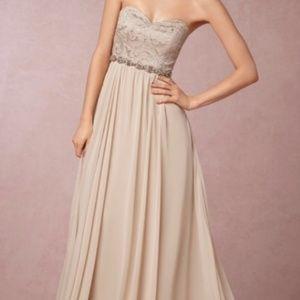 Jenny Yoo BHLDN Scarlett Dress in Sandstone Size 0